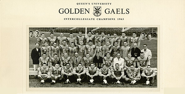 The Early '60's Golden Gaels Football Team Award image